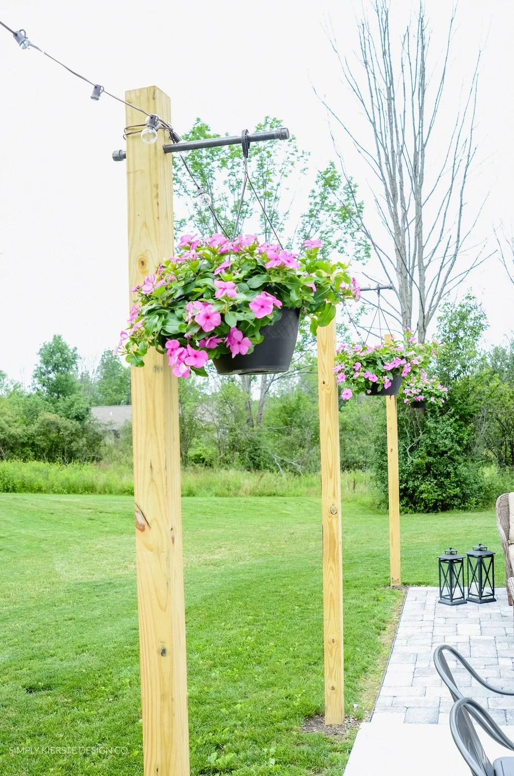 DIY Posts for Outdoor String Lights - Old Salt Farm on Backyard String Lights Diy  id=28303