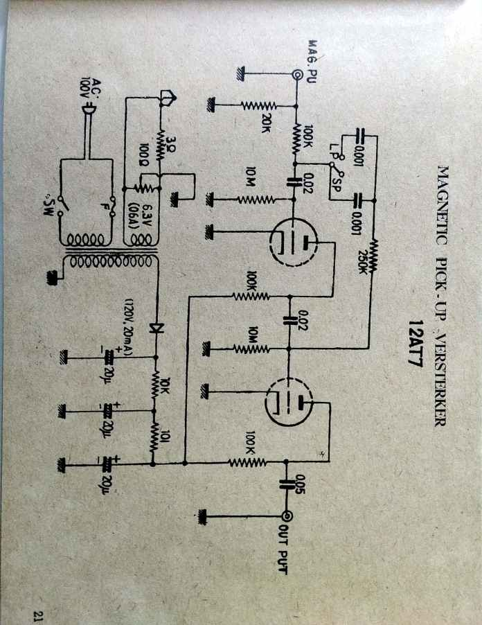 12AT7 Tube Phono Pre-Amp Schematic - Old Schematics on