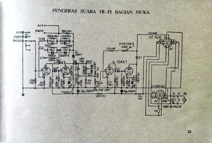 12ax7 preamp oldschematic
