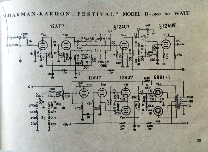 harman kardon d1000 oldschematic