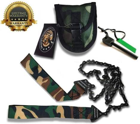 SPORTSMAN CAMOUFLAGE POCKET CHAINSAW 36 Inch Long Chain