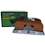 Trademark Poker 1-2 Deck Deluxe Wooden Card Shuffler