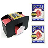 Automatic Card Shuffler with 2 Decks of Bicycle Standard Playing Cards (Same Color)