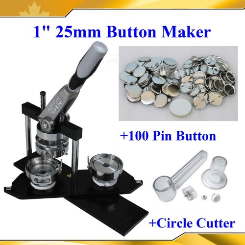 "Button Maker 1"" 25mm Kit!! Badge Button Maker Machine"