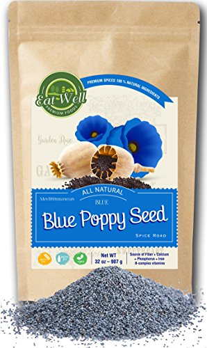 Whole Edible Poppy Seeds | Raw Poppy Seeds For Baking | 32oz (2 lbs) Resalable Bag