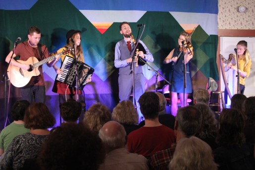 Calan, from Wales, performs energetic Celtic music to a packed house this fall as part of our Old Songs Concert Series.