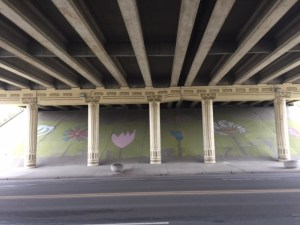 old southside 2017 great indy cleanup meridian street underpass mural
