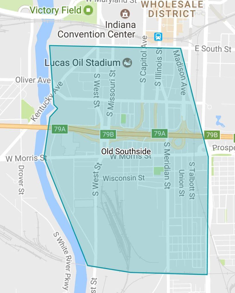 Old Southside Neighborhood Association Boundaries