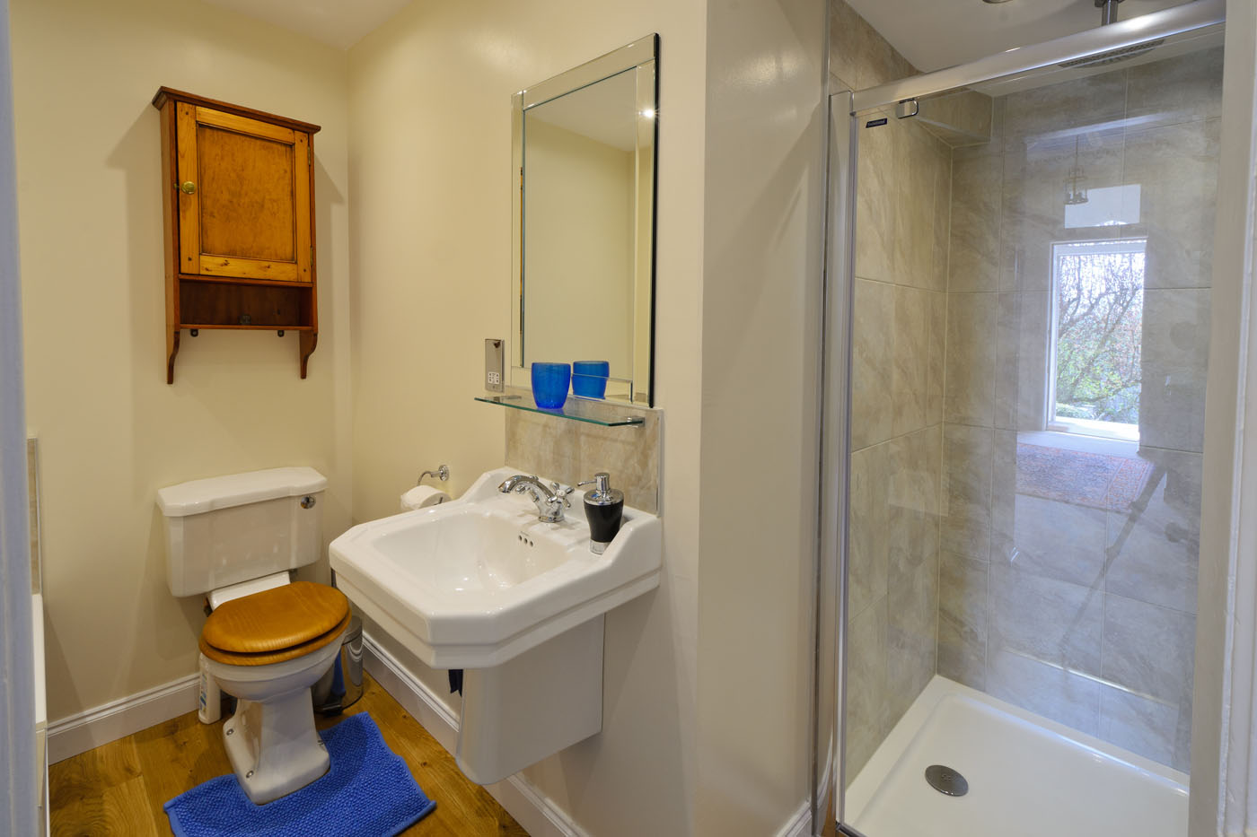 Lovely Bathroom with large shower and bath