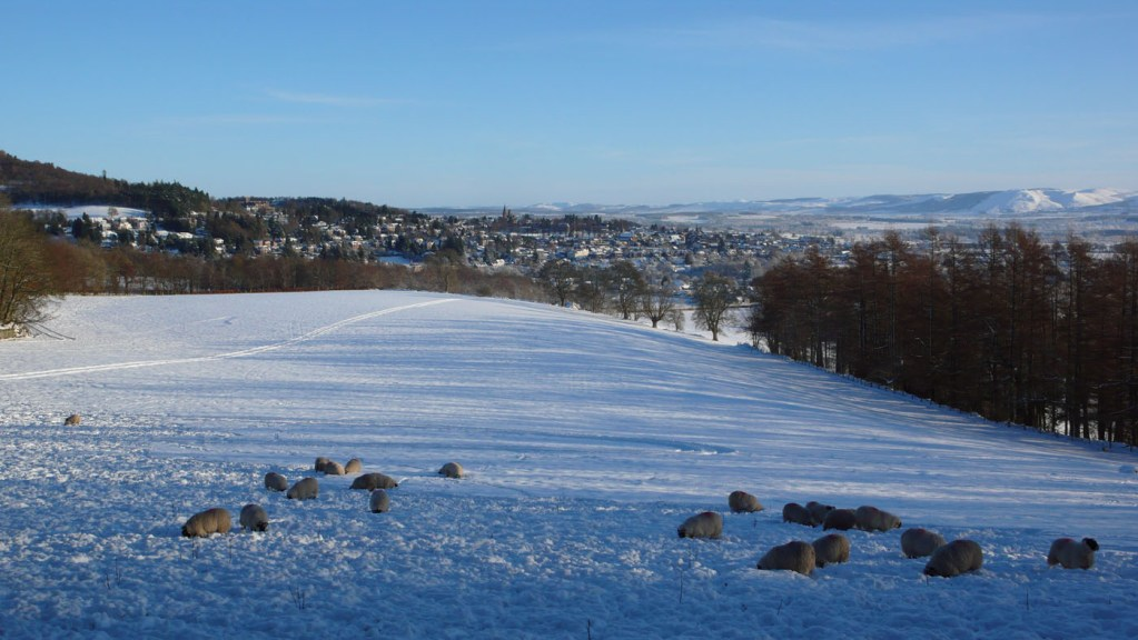 Crieff looking towards the Ochils