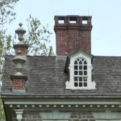 Gable End Roof, Cliveden, Philadelphia, old stone home