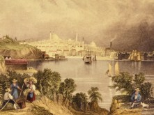 Baltimore founded, 1730, Maryland, View of Baltimore by William Henry Bartlett (1809-1854)