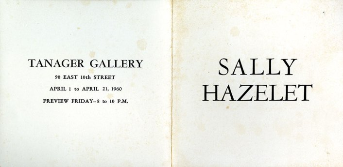 Tanager Gallery show catalog, 1960