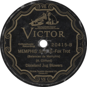 Memphis Shake, recorded December 11, 1926 by the Dixieland Jug Blowers.