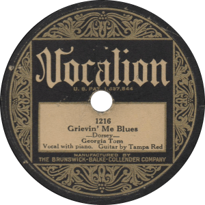 Grievin' Me Blues, recorded