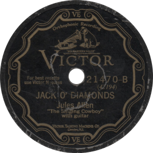 Jack o' Diamonds, recorded