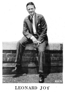 Leonard W. Joy, director of the High Hatters. From 1930 Victor catalog.