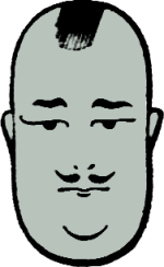 "Whiteman's famous ""Potato Head"" emblem."