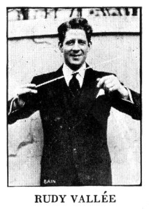 Rudy Vallée in the 1930 Victor catalog,