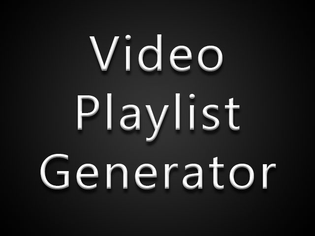 Old Time Movie and TV Playlist Generator