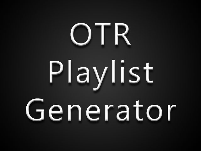 Old Time Radio Playlist Generator