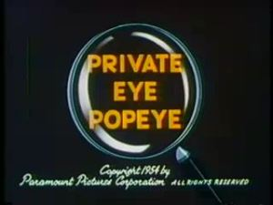 Popeye – Private Eye Popeye