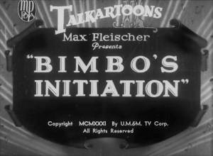 Betty Boop – Bimbo's Initiation