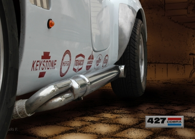 Shelby Cobra Sidepipe (Originalfoto)
