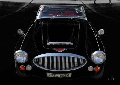 Austin-Healey 3000 Mark 3 BJ8 in darkblack