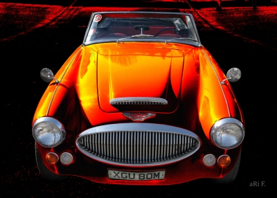 Austin-Healey 3000 Mk 3 in black & orange