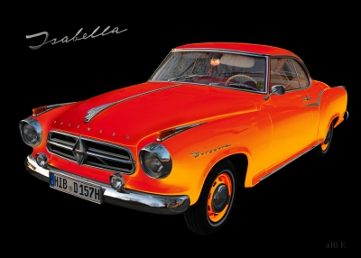 Borgward Isabella Coupé in black & orange