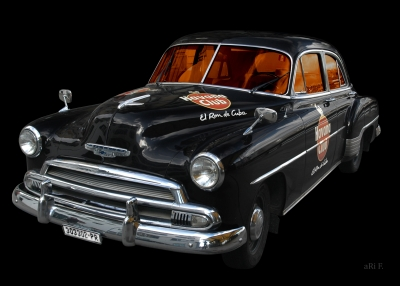 Chevrolet Deluxe Poster with Havana Club in original color