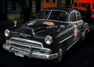 Chevrolet Deluxe with Havanna Club in black & red