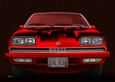Chevrolet Monza in black & red mix