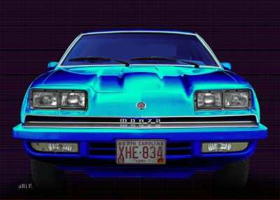 Chevrolet Monza in black & blue