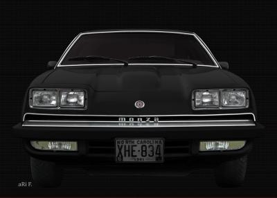 Chevrolet Monza Poster black & black
