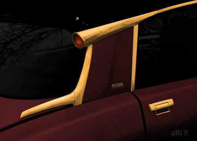 Citroen DS - Detail 02 in black & gold