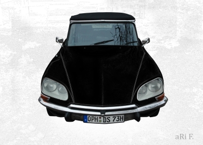 Citroen DS Pallas in black & white