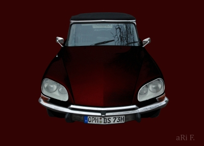 Citroen Pallas in darkred