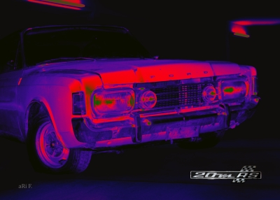 Ford 20 M RS (Ford P7) Poster in mixed colors