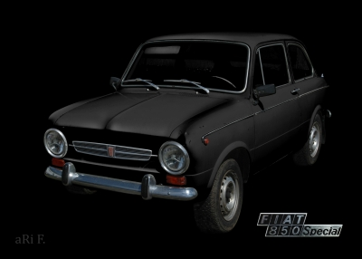 Fiat 850 Special in black & silver