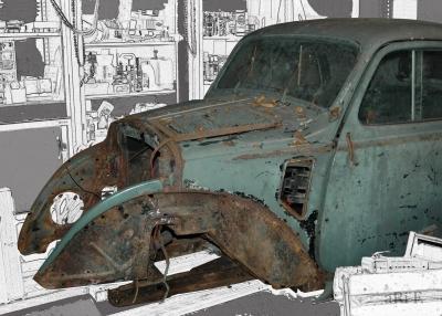 """Fiat 500 A """"Topolino"""" (Frontansicht Version 2)"""