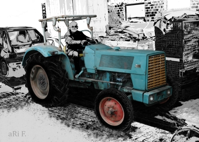 Hanomag Brillant 601 (Originalfoto) in black & white