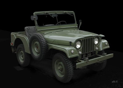 Willys Jeep M 38 A1 in Originalfarbe Poster