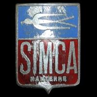 Logo Simca 5 (1936–1948) eine Lizenfertigung des Fiat Topolino