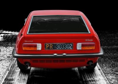 Maserati Indy Poster in Originalfarbe