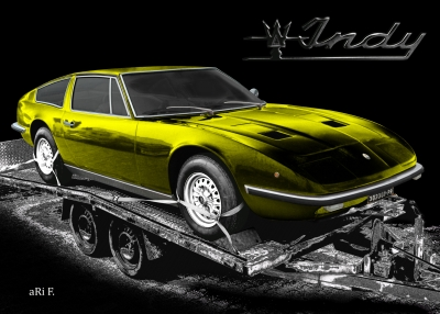 Maserati Indy Coupé in black & yellow mix
