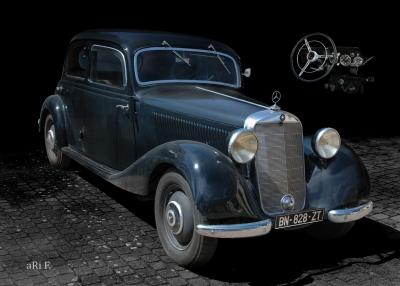 Poster Mercedes-Benz Typ 170 D Typ W 136 (Originalfarben)