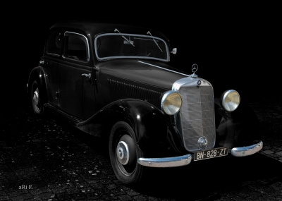 Mercedes-Benz Typ 170 D (W 136) Poster in black & black