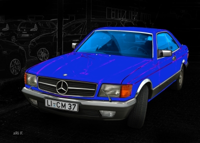 Mercedes-Benz Coupé in black & blue (S-Klasse, C 126)